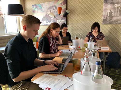 """Schreibübung im Seminar """"Schreiben für digitale Medien"""" von Udo Taubitz"""